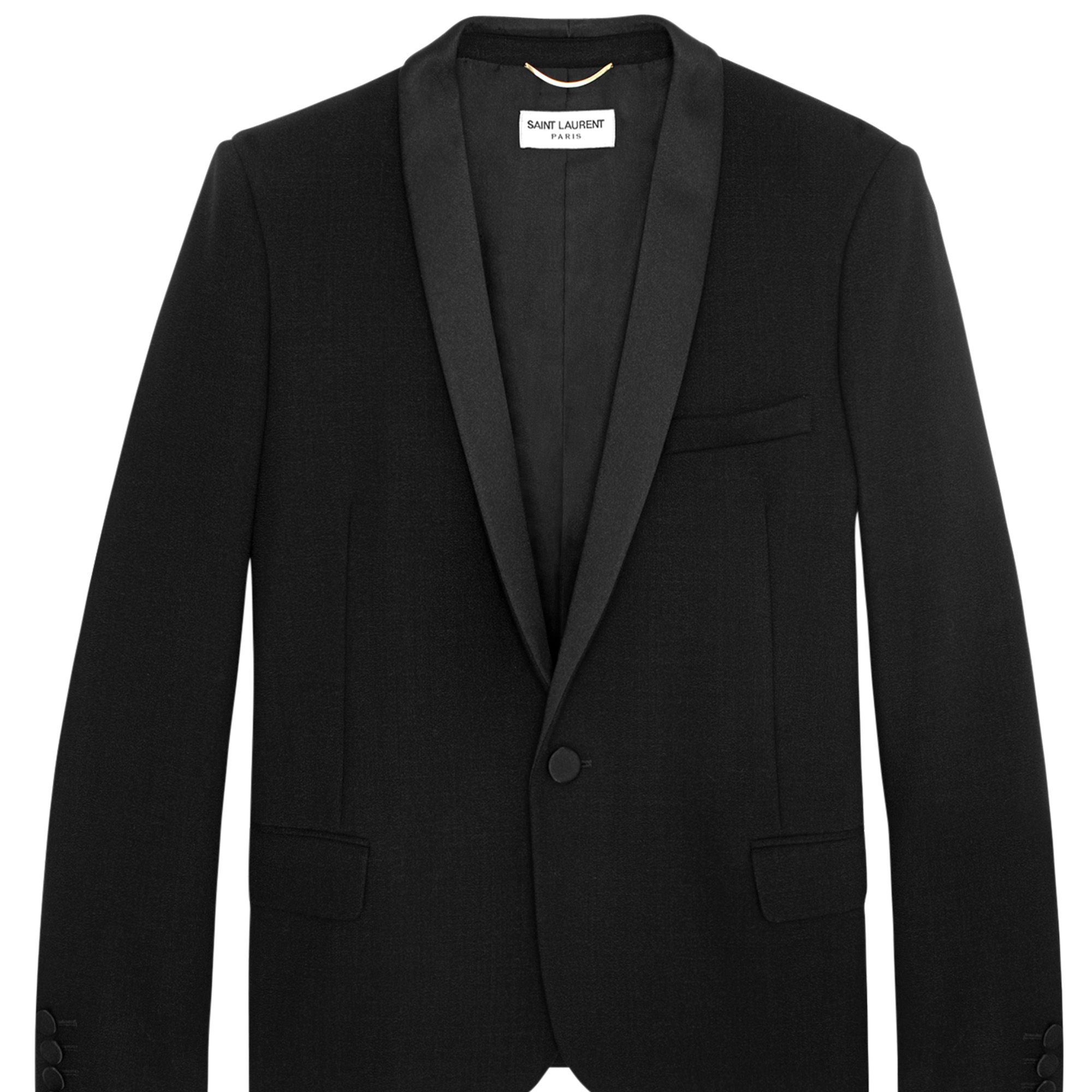 <strong>Saint Laurent by Hedi Slimane</strong> jacket, $3,490, 212-980-2970.