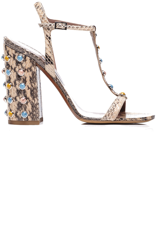 "<strong>Tabitha Simmons </strong>sandal, similar styles available at <a target=""_blank"" href=""http://shop.harpersbazaar.com/designers/tabitha-simmons/"">shopBAZAARcom</a>."
