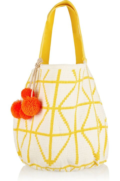 "A woven cotton tote is perfect to hold your beach-day essentials and looks just as chic away from the shore.  <strong>Sophie Anderson</strong> bag, $640, <a href=""http://www.net-a-porter.com/us/en/product/516826"" target=""_blank"">netaporter.com</a>."