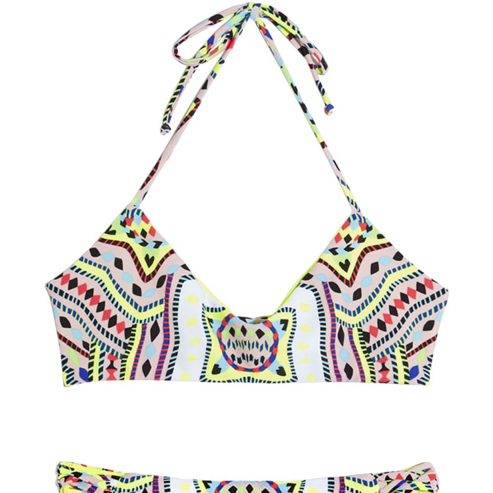 """Soak up the sun (with some SPF, of course) and show off that sun-kissed glow in a neon, tribal print two-piece. <strong>Mara Hoffman</strong> bikini top, $121, <a href=""""http://shop.harpersbazaar.com/designers/mara-hoffman/reversible-basketweave-bikini-top/"""" target=""""_blank"""">shopBAZAAR.com</a>&#x3B; <strong>Mara Hoffman</strong> bikini bottom, $121, <a href=""""http://shop.harpersbazaar.com/designers/mara-hoffman/reversible-basketweave-bikini-bottom/"""" target=""""_blank"""">shopBAZAAR.com</a>."""