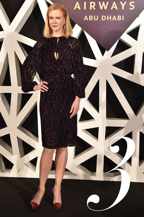 """At 5' 11"""" Nicole Kidman needs a bit of space when she flies. Now the leggy actress has become the global ambassador for Etihad luxury airlines. The Hours Oscar-winner, 47, says she's been using the Middle Eastern firm for many years as she jets between movie sets and Hollywood. """"This is my second home here,"""" she told The National magazine in the UAE. """"I spend so much time flying just because of my job, and also because I am a traveller and I am curious about the world,"""" added the Australian/American star. """"I have done movies all over the Middle East so I had flown Etihad many times prior to becoming their ambassador,"""" continued the Dead Calm actress. """"When we talk about style, elegance and flair, that is Nicole,"""" said the president of the airline James Hogan. """"She is a great star, a great friend of Etihad Airways and a great friend of Abu Dhabi,"""" he added.<P>Pictured: Nicole Kidman<B>Ref: SPL975910  140315  </B><BR/>Picture by: Etihad/Splash News<BR/></P><P><B>Splash News and Pictures</B><BR/>Los Angeles:310-821-2666<BR/>New York:212-619-2666<BR/>London:870-934-2666<BR/>photodesk@splashnews.com<BR/></P>"""