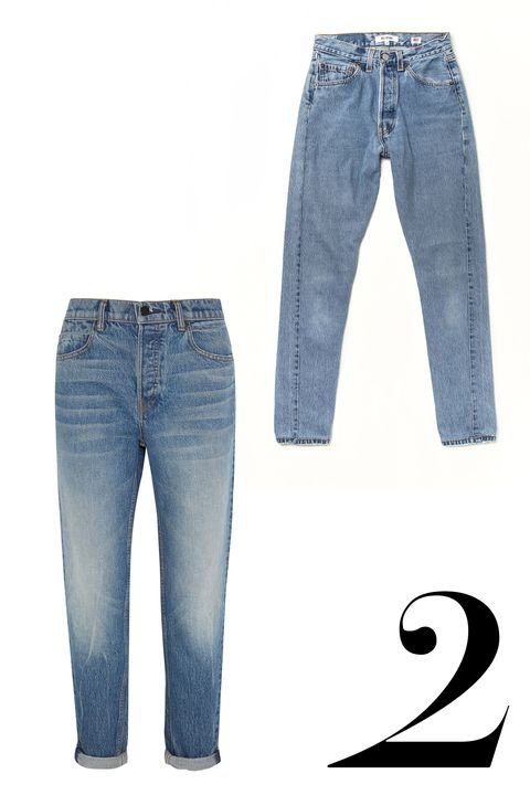 "Classic '90s silhouettes that would do Brenda Walsh proud get reimagined and reworked for a very chic take on mom jeans.  <em>Alexander Wang jeans, $295, <a target=""_blank"" href=""http://www.net-a-porter.com/us/en/product/570873"">net-a-porter.com</a>, Re/Dun jeans, $251, <a target=""_blank"" href=""http://shopredone.com/products/no-24hr14373"">shopredone.com</a>.  </em>"
