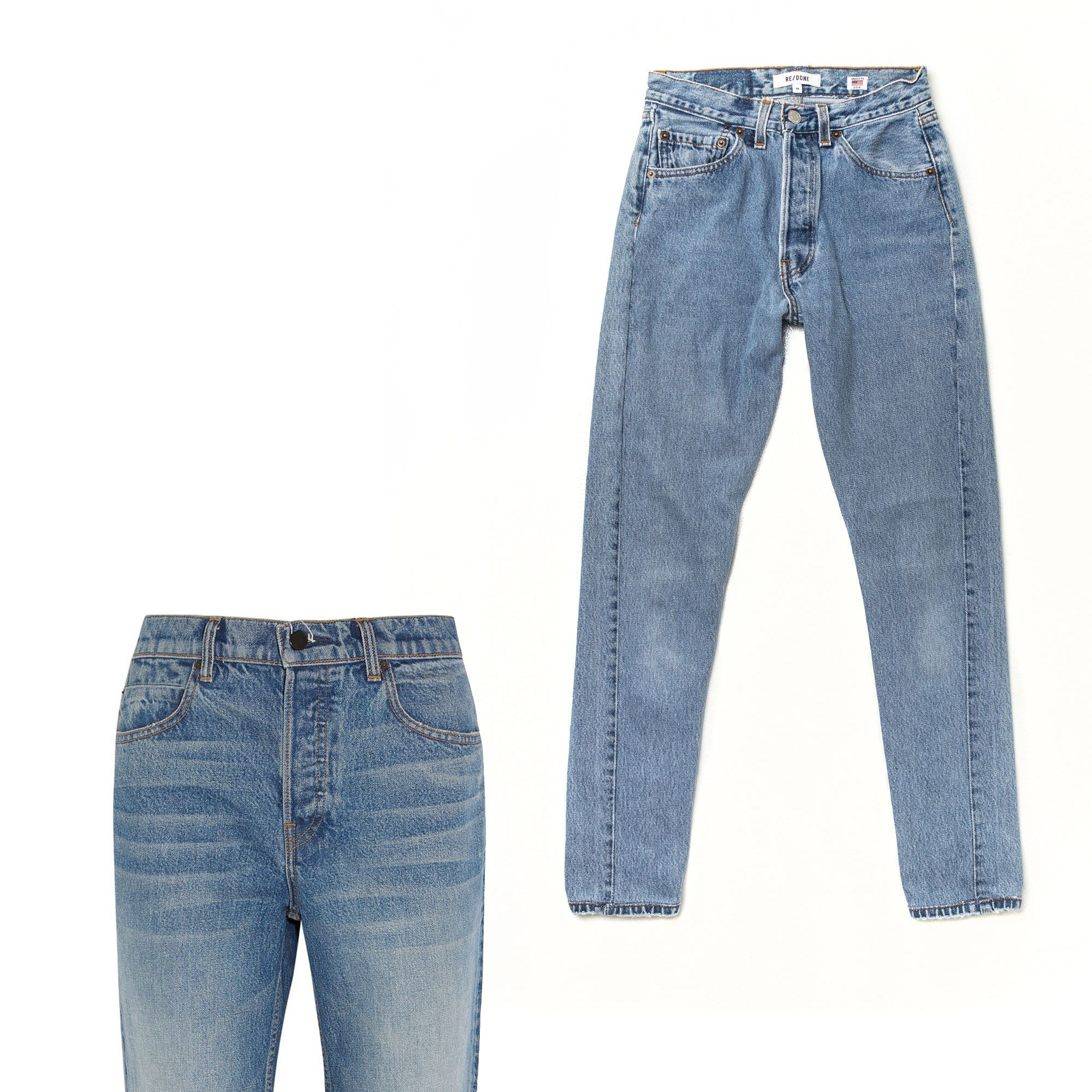 Classic '90s silhouettes that would do Brenda Walsh proud get reimagined and reworked for a very chic take on mom jeans.