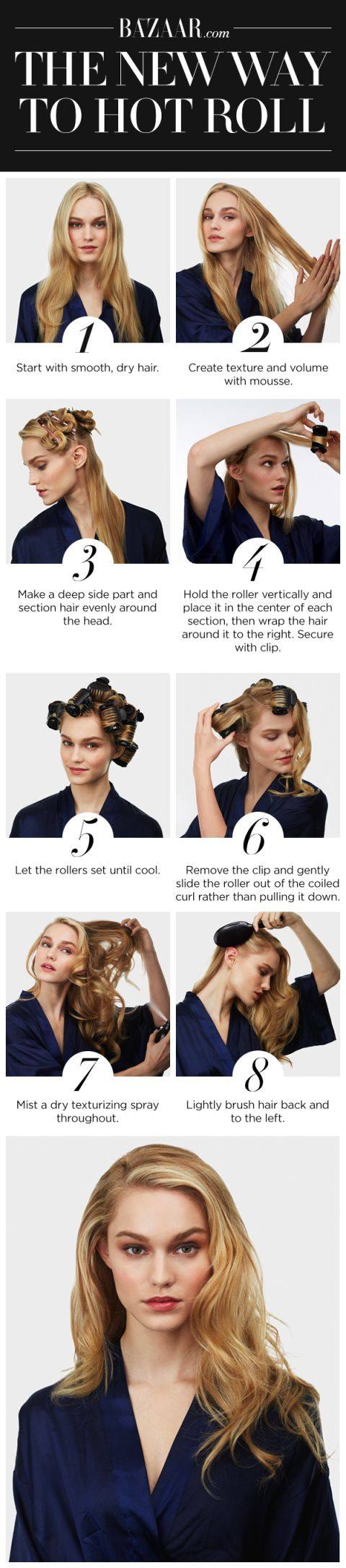 The New Way To Use Hot Rollers A Step By Step Guide To Curling Your Hair With Hot Rollers