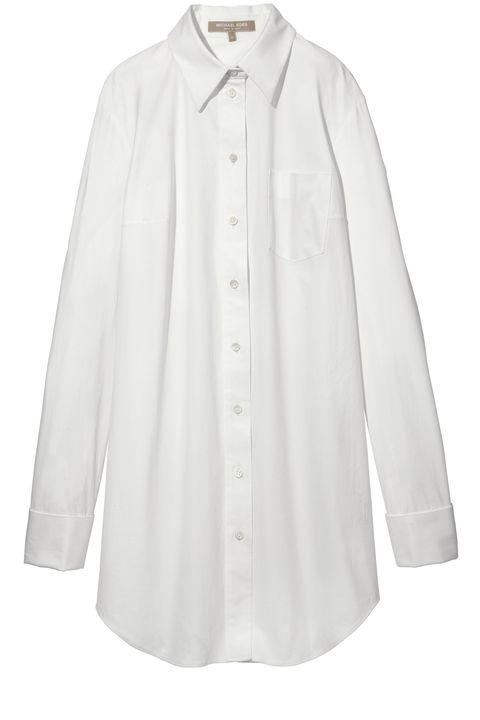 "<strong>Michael Kors</strong> shirt, $595, <a target=""_blank"" href=""http://shop.harpersbazaar.com/designers/michael-kors/white-poplin-french-cuff-shirt/"">shopBAZAAR.com</a><img src=""http://assets.hdmtools.com/images/HBZ/Shop.svg"" class=""icon shop"">, available April 30."
