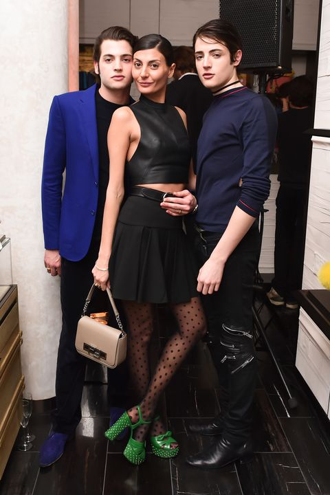 Peter Brant Jr., Giovanna Battaglia, Harry Brant