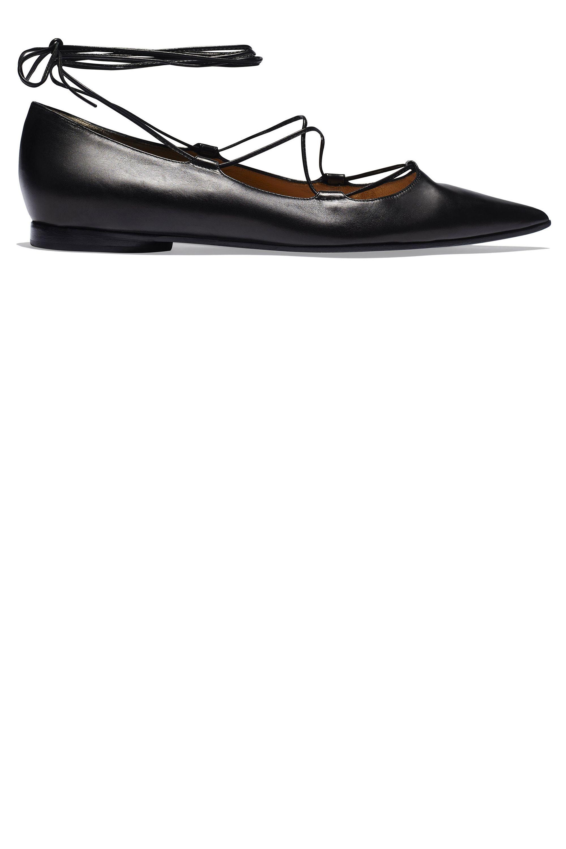 Flat Shoe Trend - Best Lace-Up Ballet Flats