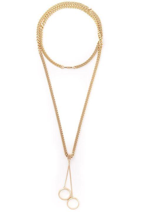 "<strong>Chloé</strong> necklace, $464, <a target=""_blank"" href=""http://www.farfetch.com/shopping/women/chloe-ring-pendant-necklace-item-10895817.aspx?storeid=9388&amp;ffref=lp_244_"">farfetch.com.</a>"