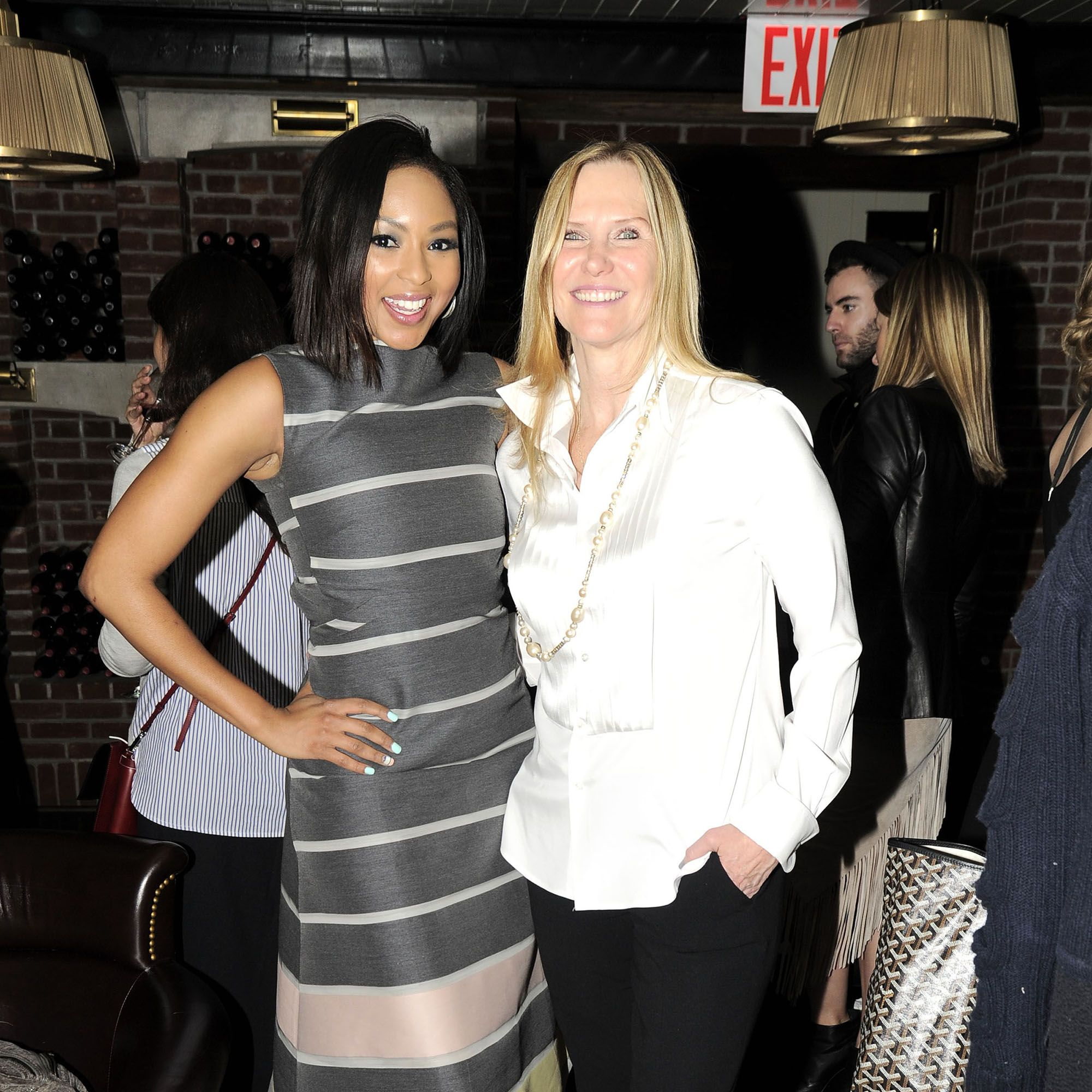Alicia Quarles, Stuart Weitzman Legwrap Capsule Collection, Susan Duffy==Stuart Weitzman Celebrates Spring and a Limited Edition Collection to Benefit Cancer Research==Lafayette, 380 Lafayette Street, NYC==March 25, 2015==©Patrick McMullan==Photo - Nicholas Hunt/PatrickMcMullan.com====