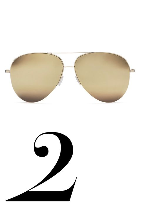 "My favorite sunglass shape is the aviator, and Victoria Beckham's newly launched sunglass collection executes them perfectly—in 18 karat gold.  <p><em>Victoria Beckham sunglasses, $950, <a target=""_blank"" href=""https://www.victoriabeckham.com/shop/eyewear/classic-victoria-18ct-gold"">victoriabeckham.com</a>.</em></p>"