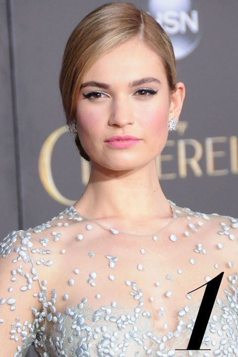HOLLYWOOD, CA - MARCH 01:  Actress Lily James attends the premiere of 'Cinderella' at the El Capitan Theatre on March 1, 2015 in Hollywood, California.  (Photo by Barry King/FilmMagic)