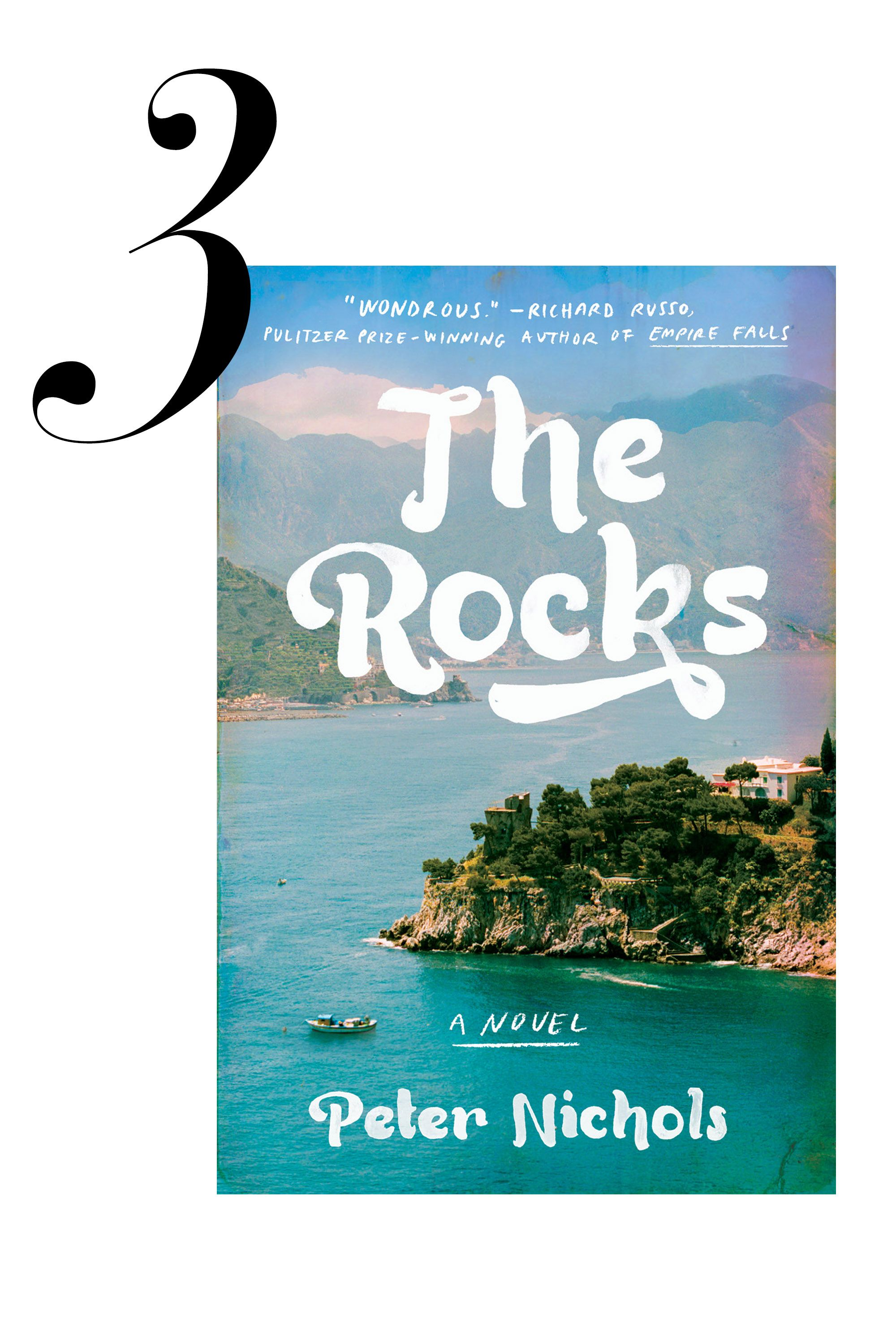 "Loosely based on his own memories of Mediterranean summers in Mallorca, Hollywood screenwriter Peter Nichols's novel <a target=""_blank"" href=""http://www.amazon.com/Rocks-Novel-Peter-Nichols/dp/1594633312/ref=sr_1_1?s=books&amp&#x3B;ie=UTF8&amp&#x3B;qid=1427318530&amp&#x3B;sr=1-1&amp&#x3B;keywords=THE+ROCKS+by+Peter+Nichols""><em>The Rocks</em></a> is a double love story told in reverse. This page-turner will transport readers to the sunny community of expats at a glamorous seaside resort, where mystery, love, and family legacy are all fiercely intertwined. 