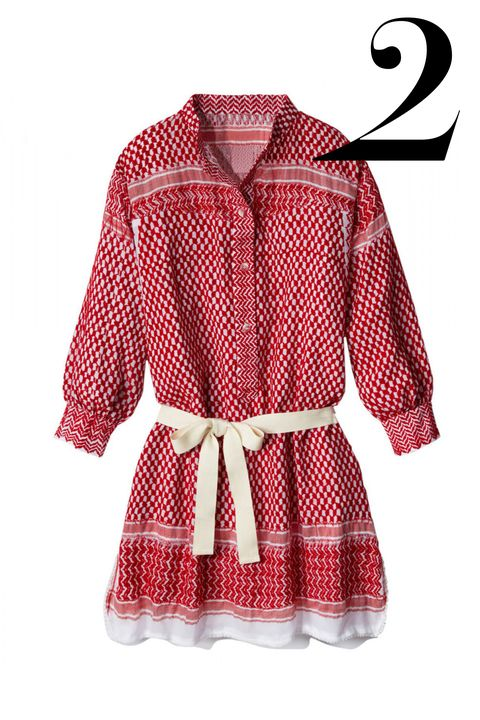 "<em>Rough Rugs dress, $213, <a target=""_blank"" href=""http://shop.harpersbazaar.com/designers/rough-rugs/red-white-leila-k-dress/"">shopBAZAAR.com.</a></em>"