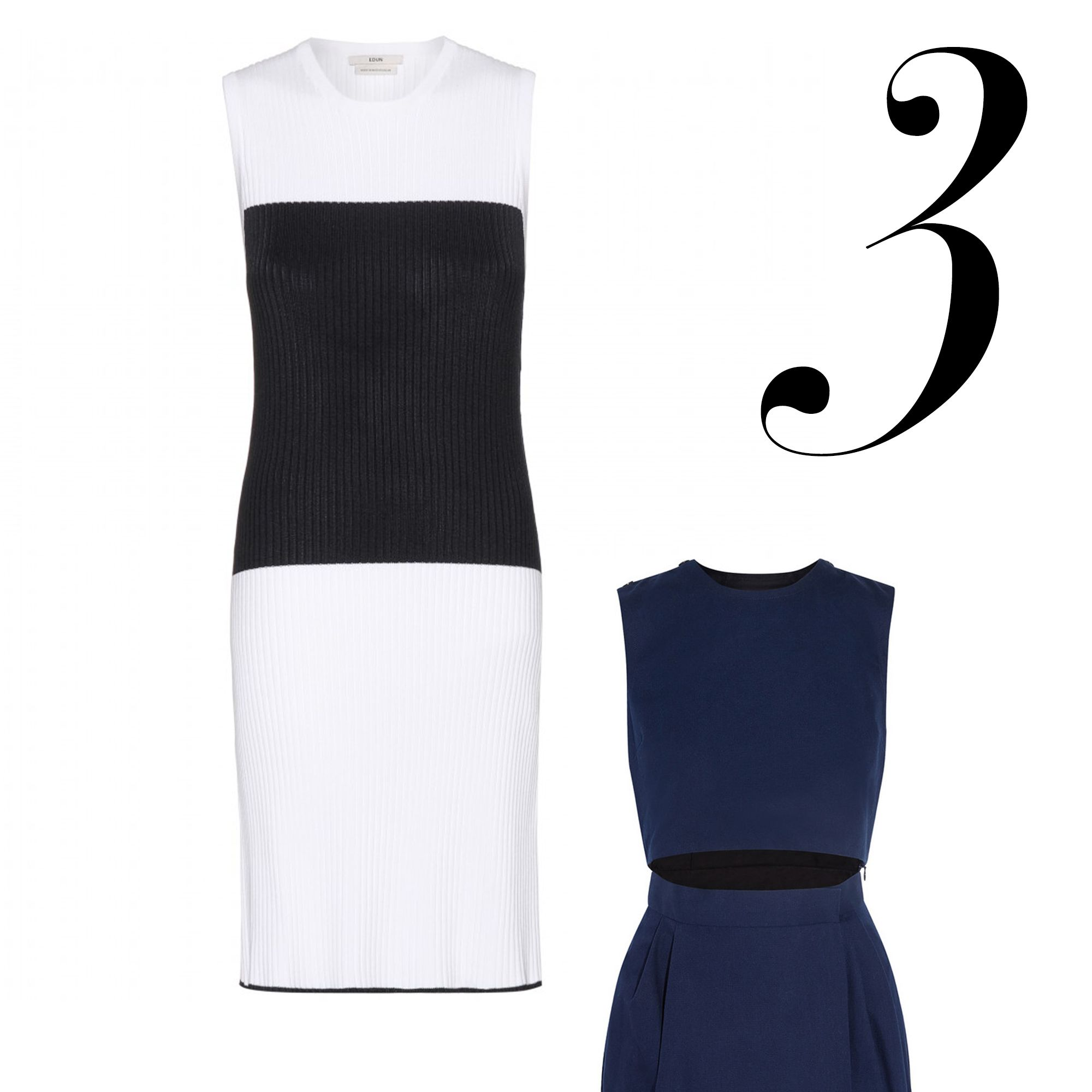 "<div>Feeling shifty? Opt for ones with added interest like graphic-blocking and peek-a-boo cut-outs.</div><div></div><div><em>Edun, $591, <a target=""_blank"" href=""http://www.mytheresa.com/en-us/ribbed-cotton-dress.html"">mytheresa.com</a>&#x3B;</em><em>Victoria Beckham, $1,495, <a target=""_blank"" href=""http://www.net-a-porter.com/us/en/product/535279"">net-a-porter.com</a>.</em></div>"