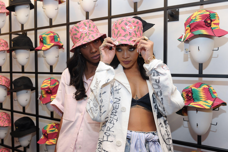 35595a99b2d Melissa Forde Wrkng Title Bucket Hat Launch - Rihanna s Best Friend ...