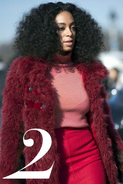 PARIS, FRANCE - MARCH 05:  Solange Knowles in the streets of Paris during the Paris Fashion Week on March 5, 2015 in Paris, France.  (Photo by Timur Emek/Getty Images)