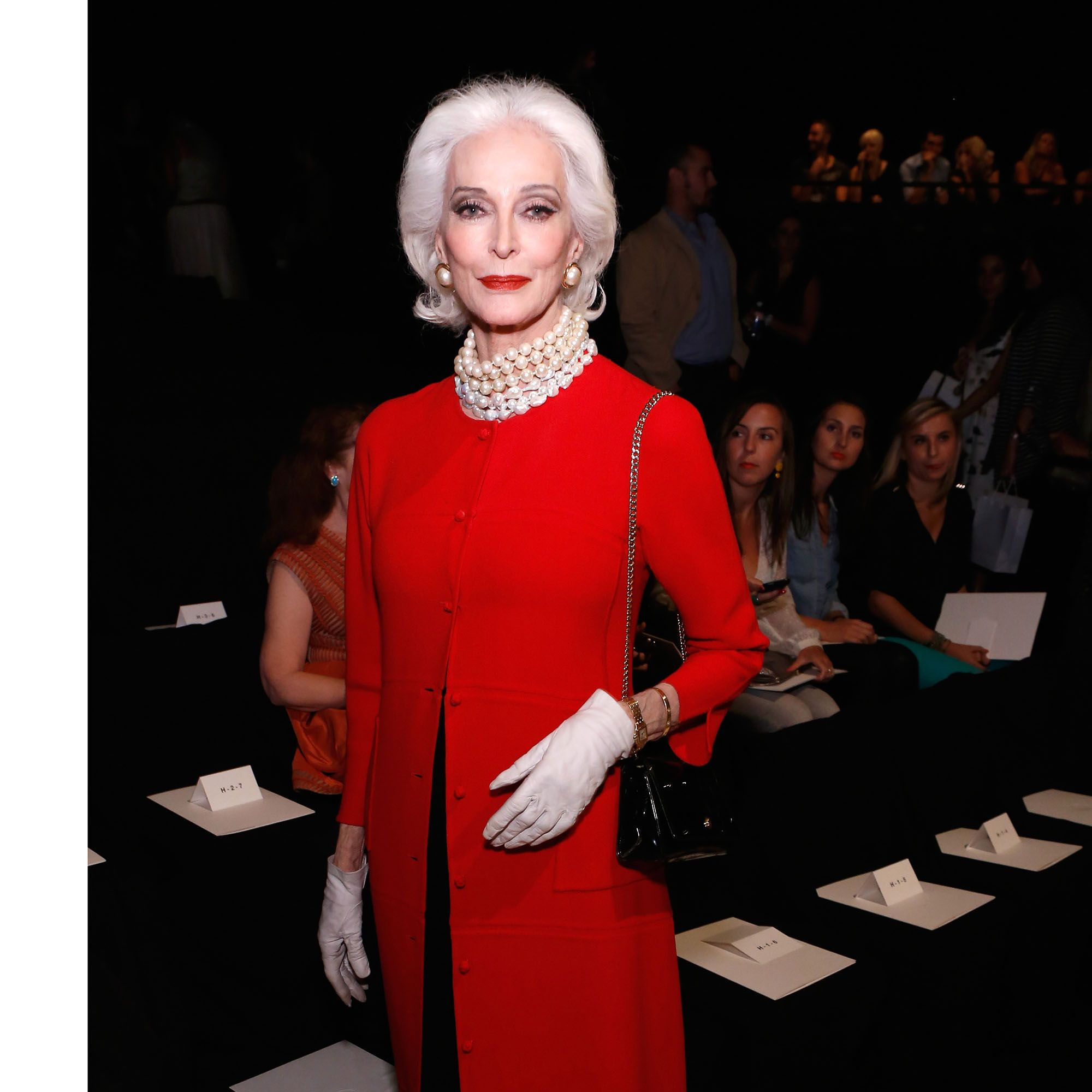 NEW YORK, NY - SEPTEMBER 09:  Carmen Dell'Orefice attends the Chado Ralph Rucci Spring 2013 fashion show during Mercedes-Benz Fashion Week  at The Theatre Lincoln Center on September 9, 2012 in New York City.  (Photo by Cindy Ord/Getty Images for Mercedes-Benz Fashion Week)