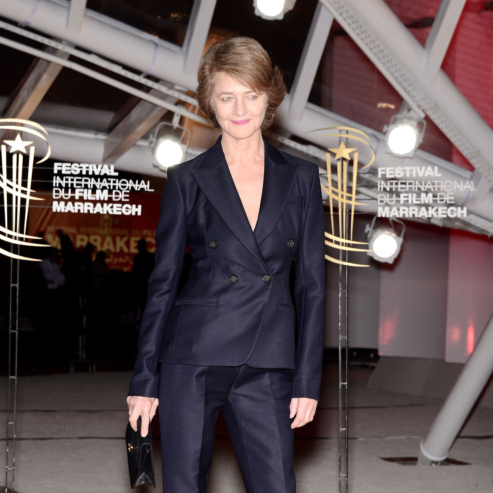 MARRAKECH, MOROCCO - DECEMBER 01:  Actress Charlotte Rampling attends the 'Like Father, Like Son' premiere during the 13th Marrakech International Film Festival on December 1, 2013 in Marrakech, Morocco.  (Photo by Dominique Charriau/GettyImages for Dior)