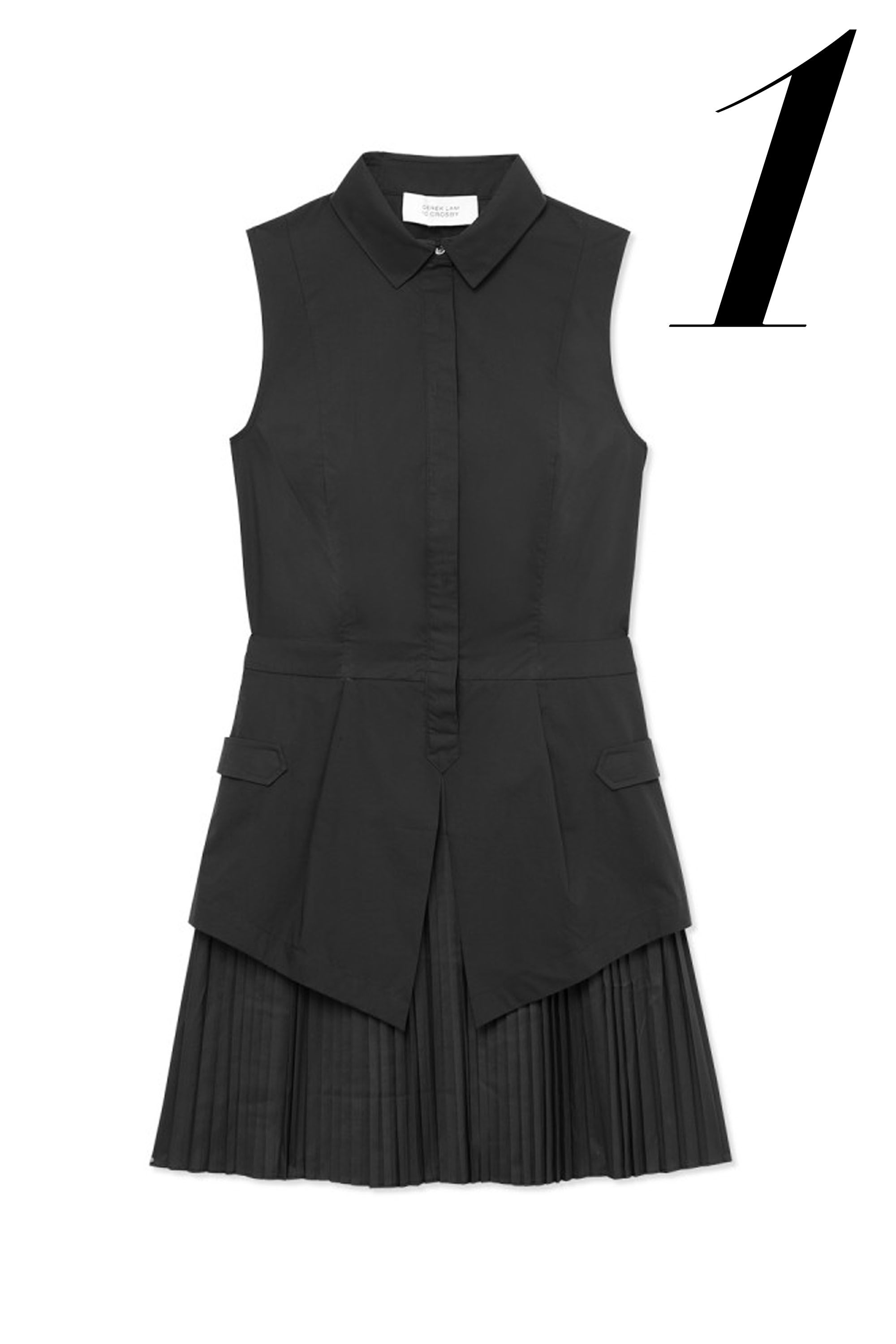"10 Crosby Derek Lam dress, $395, <a href=""http://shop.harpersbazaar.com/designers/10-crosby-derek-lam/ruffle-shirtdress/"" target=""_blank"">ShopBAZAAR</a>."