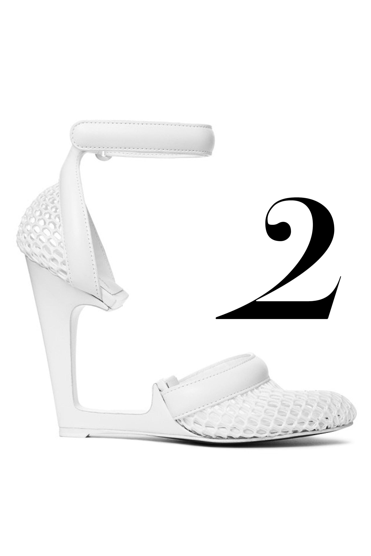 "Alexander Wang heel, $625, <a href=""http://shop.harpersbazaar.com/designers/alexander-wang/caterina-runway-mesh-heel/"" target=""_blank"">ShopBAZAAR</a>."