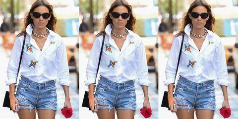 Clothing, Eyewear, Glasses, Vision care, Sunglasses, Blue, Product, Denim, Textile, White,
