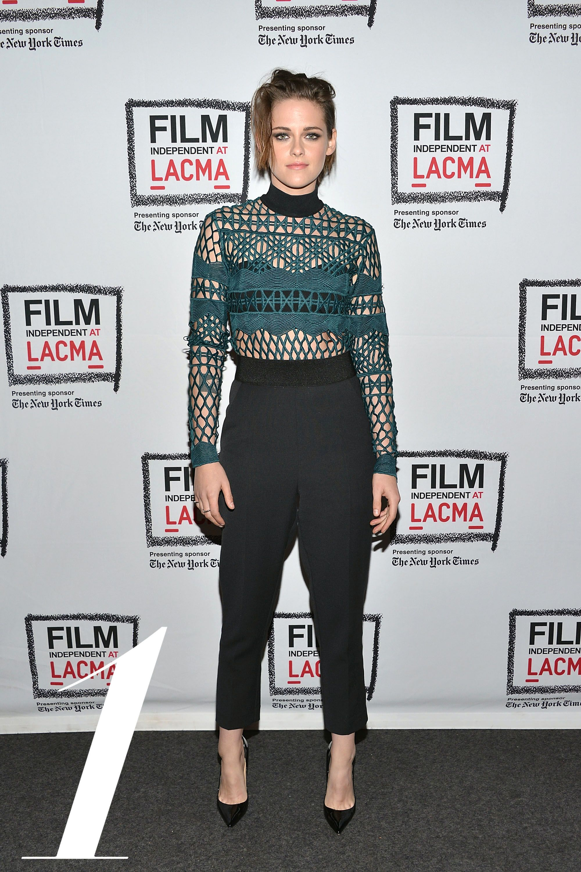 LOS ANGELES, CA - APRIL 03:  Kristen Stewart attends the Film Independent at LACMA screening and Q&A of 'Clouds Of Sils Maria' at Bing Theatre At LACMA on April 3, 2015 in Los Angeles, California.  (Photo by Araya Diaz/WireImage)