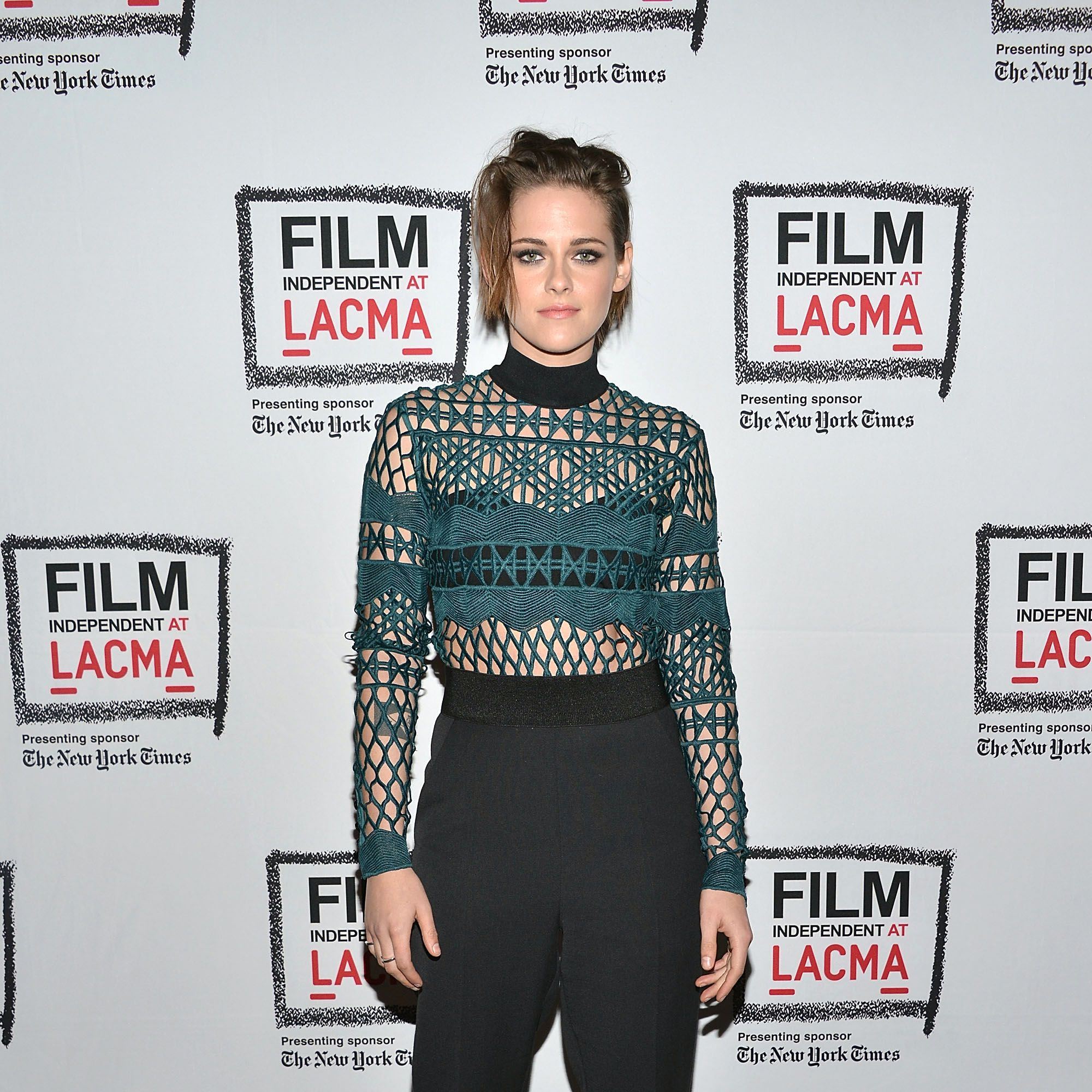 LOS ANGELES, CA - APRIL 03:  Kristen Stewart attends the Film Independent at LACMA screening and Q&amp&#x3B;A of 'Clouds Of Sils Maria' at Bing Theatre At LACMA on April 3, 2015 in Los Angeles, California.  (Photo by Araya Diaz/WireImage)