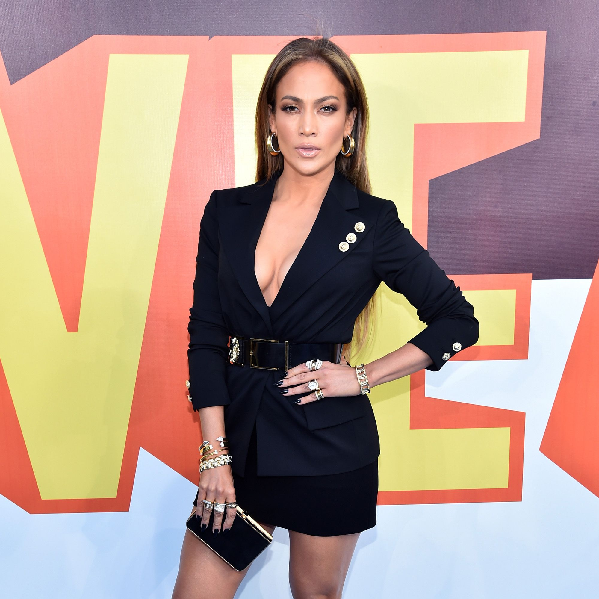 LOS ANGELES, CA - APRIL 12:  Actress/singer Jennifer Lopez attends The 2015 MTV Movie Awards at Nokia Theatre L.A. Live on April 12, 2015 in Los Angeles, California.  (Photo by Alberto E. Rodriguez/Getty Images for MTV)