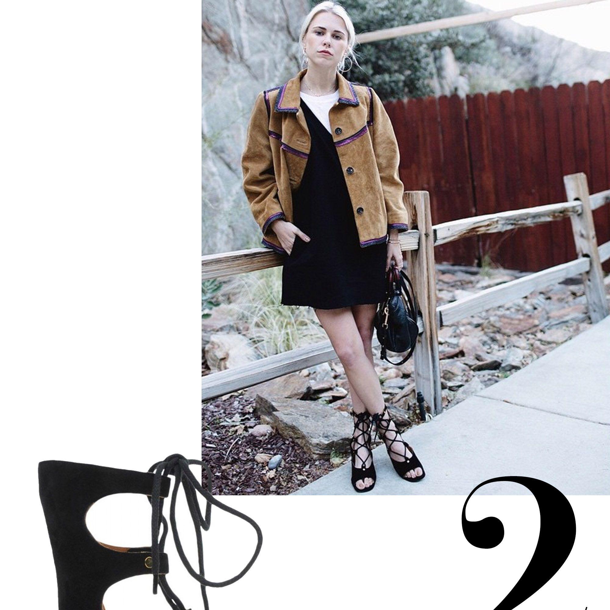 "Courtney Trop, @alwaysjudging<strong>Chloé</strong> sandals, $1,075, <a target=""_blank"" href=""http://shop.harpersbazaar.com/designers/chloe/suede-lace-up-gladiator-sandal-11/"">ShopBAZAAR.com.</a>"