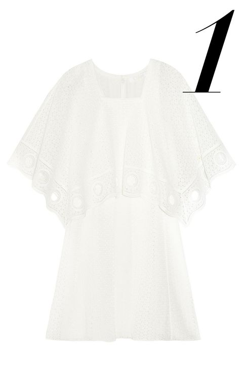 "<em>Chloé dress, $2,995, <a target=""_blank"" href=""http://www.net-a-porter.com/product/544832/Chloe/crocheted-cotton-blend-mini-dress"">net-a-porter.com.</a></em>"