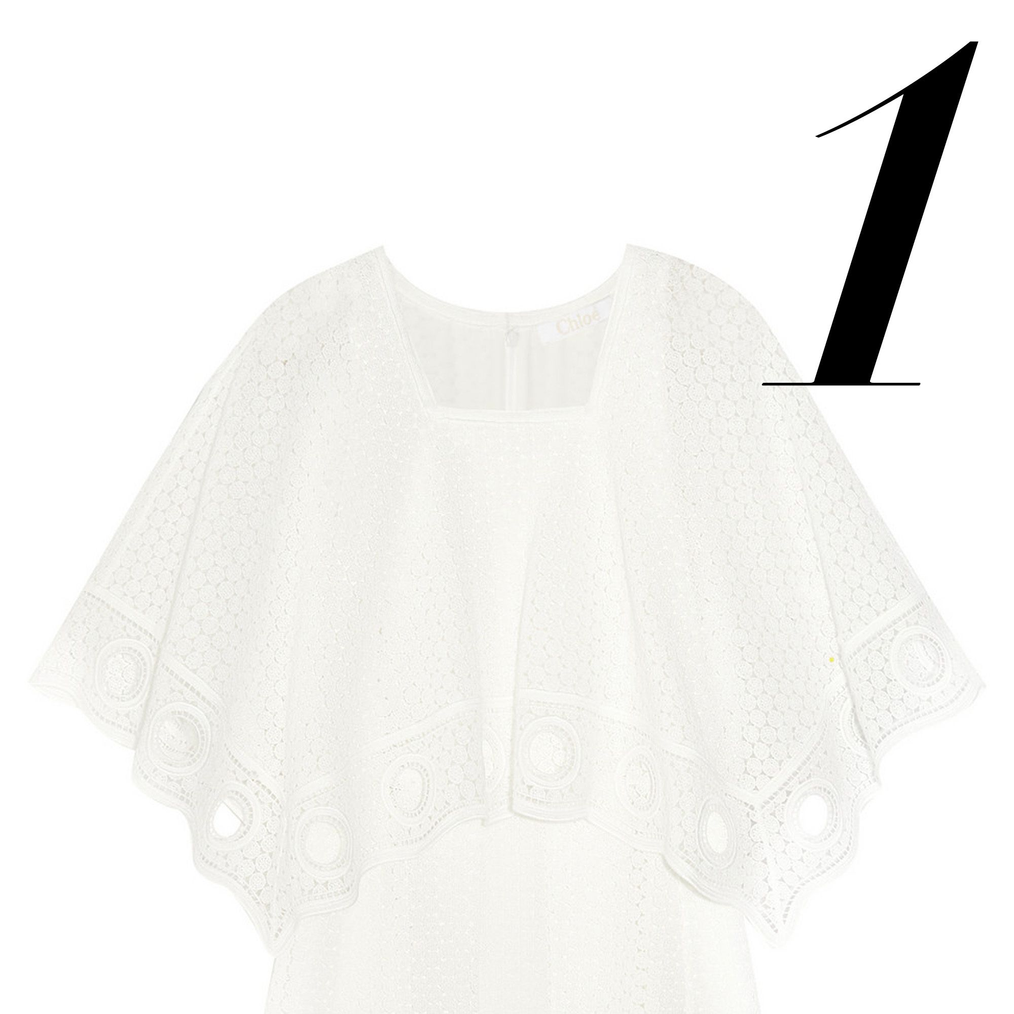 "<em>Chloé dress, $2,995, <a target=""_blank"" href=""http://www.net-a-porter.com/product/544832/Chloe/crocheted-cotton-blend-mini-dress"">net-a-porter.com.</a></em>"