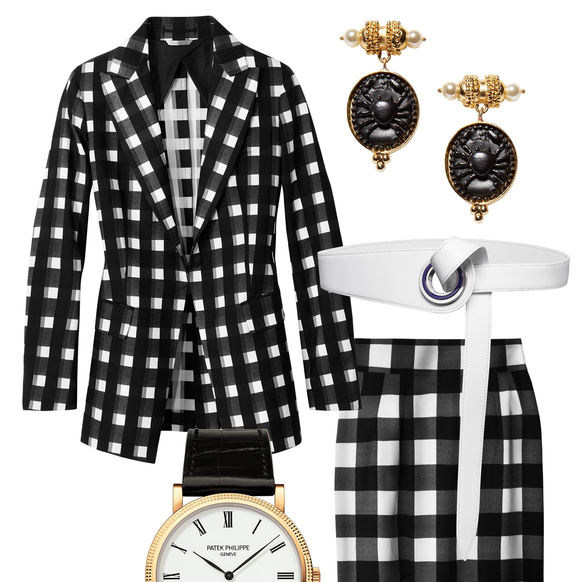 Office attire is getting a makeover thanks to a heavy dose of pattern play and just-this-side-of-sexy silhouettes. Take your cue from Joseph Altuzarra and anchor a gingham look with polished extras—black heels and a waist-defining belt are musts.