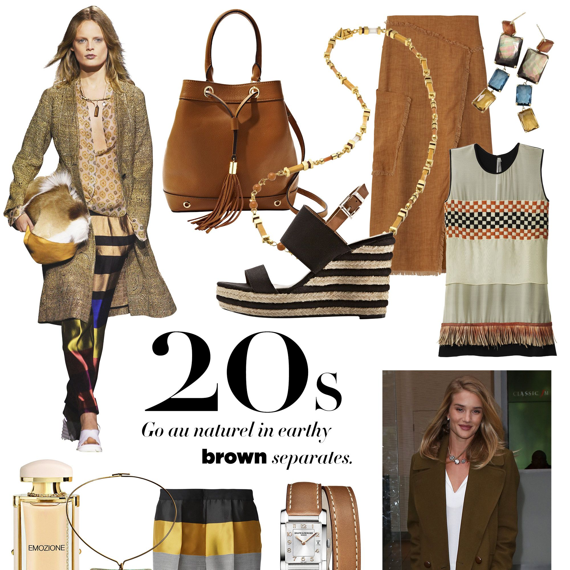 """<strong>Milly</strong> bag, $365, <a target=""""_blank"""" href=""""http://www.shopbop.com/astor-bucket-bag-milly/vp/v=1/1543136595.htm?folderID=2534374302079688&amp&#x3B;fm=other&amp&#x3B;colorId=12867"""">shopbop.com</a>&#x3B; <strong>Vince Camuto</strong> sandal, $119, <a target=""""_blank"""" href=""""http://www.vincecamuto.com/loran/VC-LORAN.html?dwvar_VC-LORAN_colormaterial=101%20CASCJU#start=1"""">vincecamuto.com</a>&#x3B; <strong>Tibi</strong> skirt, $495, similar styles available at <a target=""""_blank"""" href=""""http://shop.harpersbazaar.com/designers/tibi/"""">shopBAZAAR.com</a><img src=""""http://assets.hdmtools.com/images/HBZ/Shop.svg"""" class=""""icon shop"""">&#x3B; <strong>Ippolita</strong> earrings, $2,995, Bergdorf Goodman, 888-774-2424&#x3B; <strong>Reed Krakoff</strong> top, $1,790, <a target=""""_blank"""" href=""""http://www.reedkrakoff.com/ready-to-wear/runway-embroidery-top-with-feathers"""">reedkrakoff.com</a>&#x3B; <strong>Salvatore Ferragamo</strong> Emozione, $95, <a target=""""_blank"""" href=""""http://www.ferragamo.com/shop/en/usa/women/fragrances/-622568--1#pId=6148914691233640902"""">ferragamo.com</a>&#x3B; <strong>Jimmy Choo</strong> sandal, $725, <a target=""""_blank"""" href=""""http://us.jimmychoo.com/en/women/shoes/sandals/wylde/black-suede-lace-up-sandals-151wyldesue.html?cgid=women-shoes-sandals#dwvar_151wyldesue_color=Black&amp&#x3B;start=19&amp&#x3B;searchgridpos=19&amp&#x3B;srule=Merchandising Default"""">jimmychoo.com</a>&#x3B; <strong>Jill Heller Jewelry</strong> necklace, $6,500, similar styles available at <a target=""""_blank"""" href=""""http://shop.harpersbazaar.com/designers/jill-heller/robert-lee-morris-vintage-necklace/"""">shopBAZAAR.com</a><img src=""""http://assets.hdmtools.com/images/HBZ/Shop.svg"""" class=""""icon shop"""">, <strong>Cédric Charlier</strong> pants, $1,620, The Webster, Miami Beach, 305-674-7899&#x3B; <strong>Baume &amp&#x3B; Mercier</strong> watch, $2,150, <a target=""""_blank"""" href=""""http://www.baume-et-mercier.com/en-us/hampton-10110.exploreview.html"""">baume-et-mercier.com</a>&#x3B; <strong>Tory Bu"""