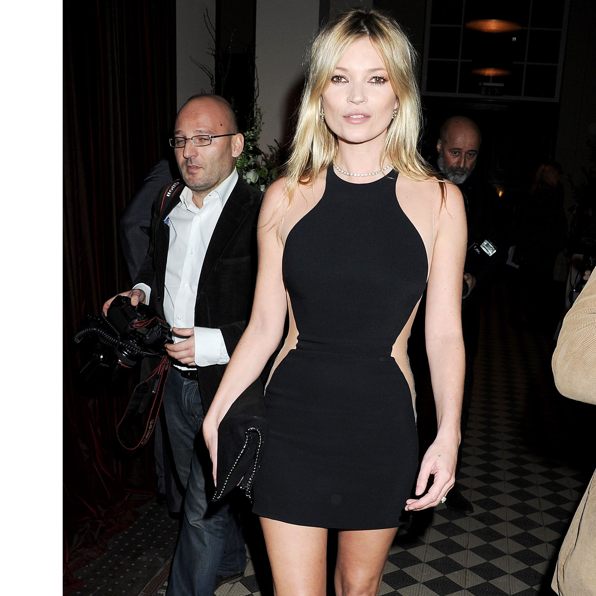 LONDON, ENGLAND - FEBRUARY 18:  (EMBARGOED FOR PUBLICATION IN UK TABLOID NEWSPAPERS UNTIL 48 HOURS AFTER CREATE DATE AND TIME. MANDATORY CREDIT PHOTO BY DAVE M. BENETT/GETTY IMAGES REQUIRED)  Kate Moss attends a cocktail reception at the Stella McCartney Special Presentation during London Fashion Week Autumn/Winter 2012 a One Mayfair on February 18, 2012 in London, England.  (Photo by Dave M. Benett/Getty Images)