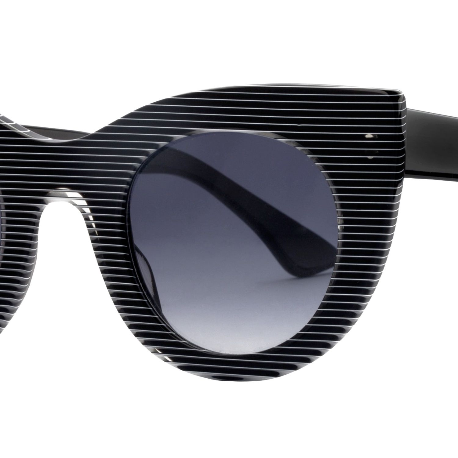 """<strong>Theirry Lasry</strong> sunglasses, $385, <a target=""""_blank"""" href=""""http://www.thierrylasry.com/collections/2013-2/?id=40"""">theirrylasry.com</a>."""