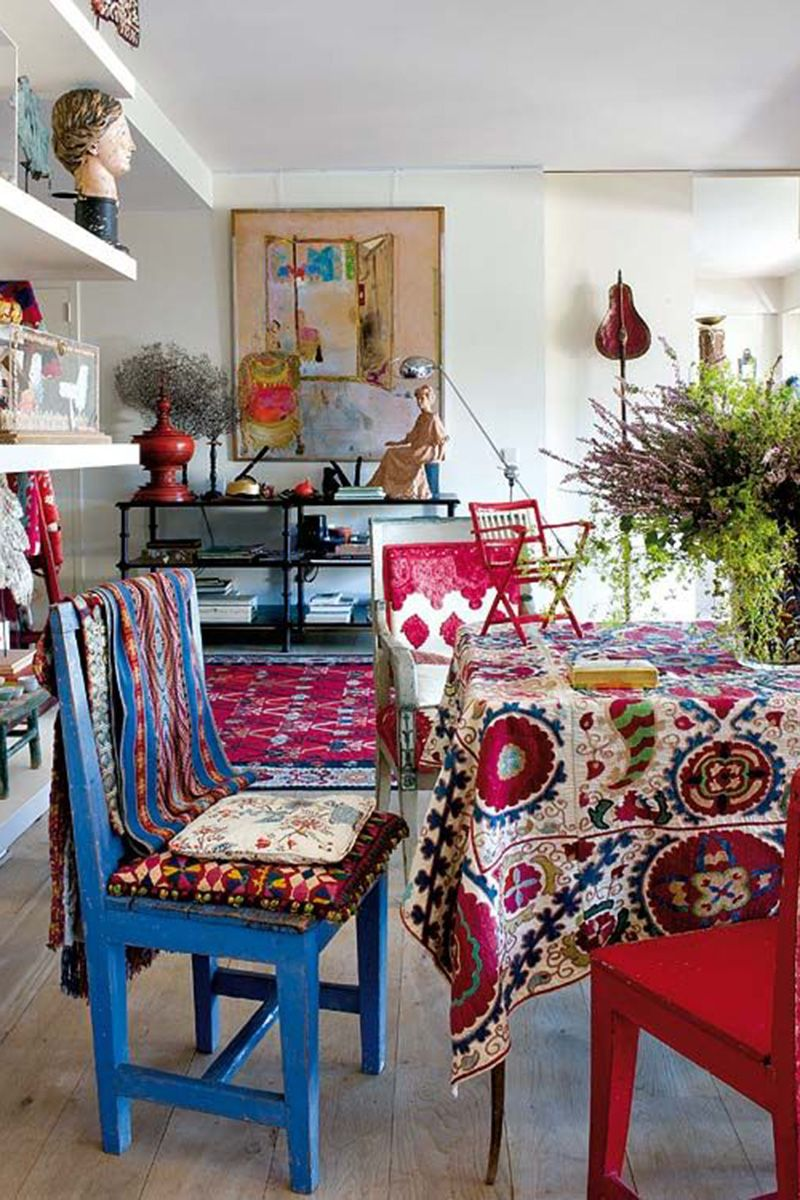 Harper\u0027s Bazaar & Bohemian Interior Design Trend and Ideas - Boho Chic Home Decor
