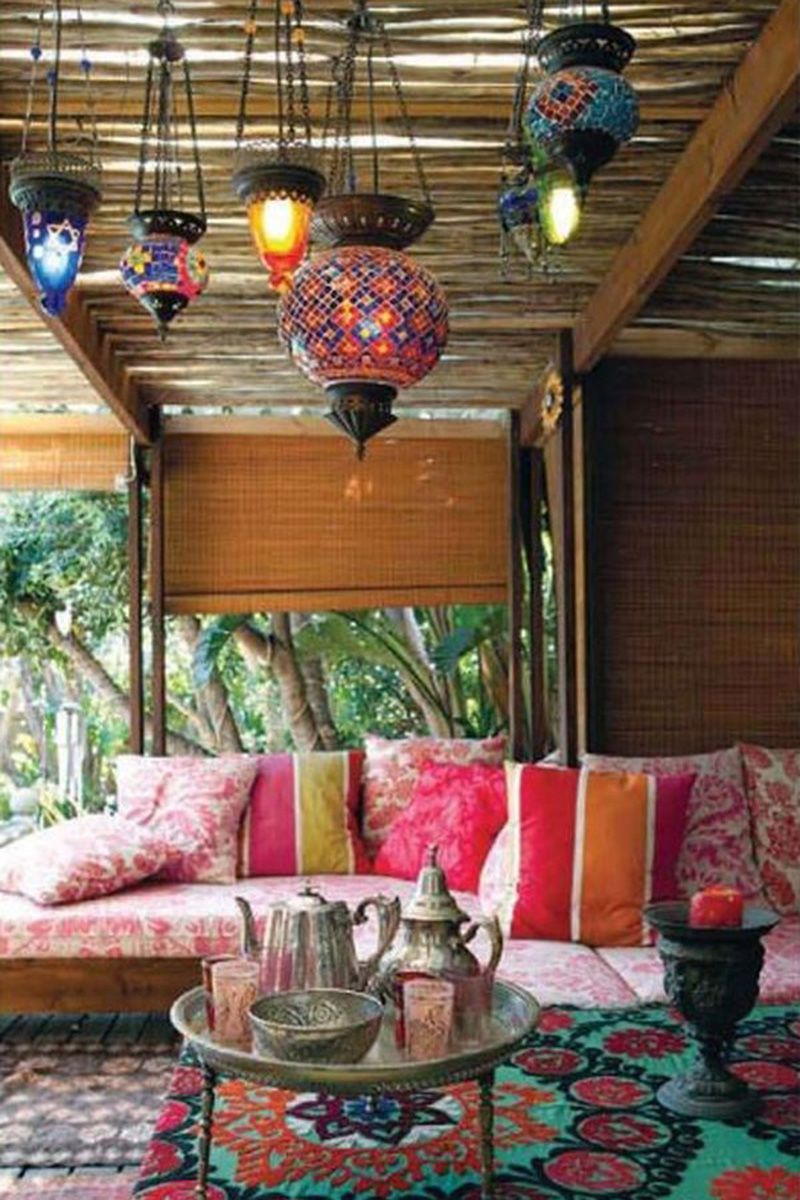 Colorful Paper Lanterns Lend A Summer Bohemian Feel To Any Room.
