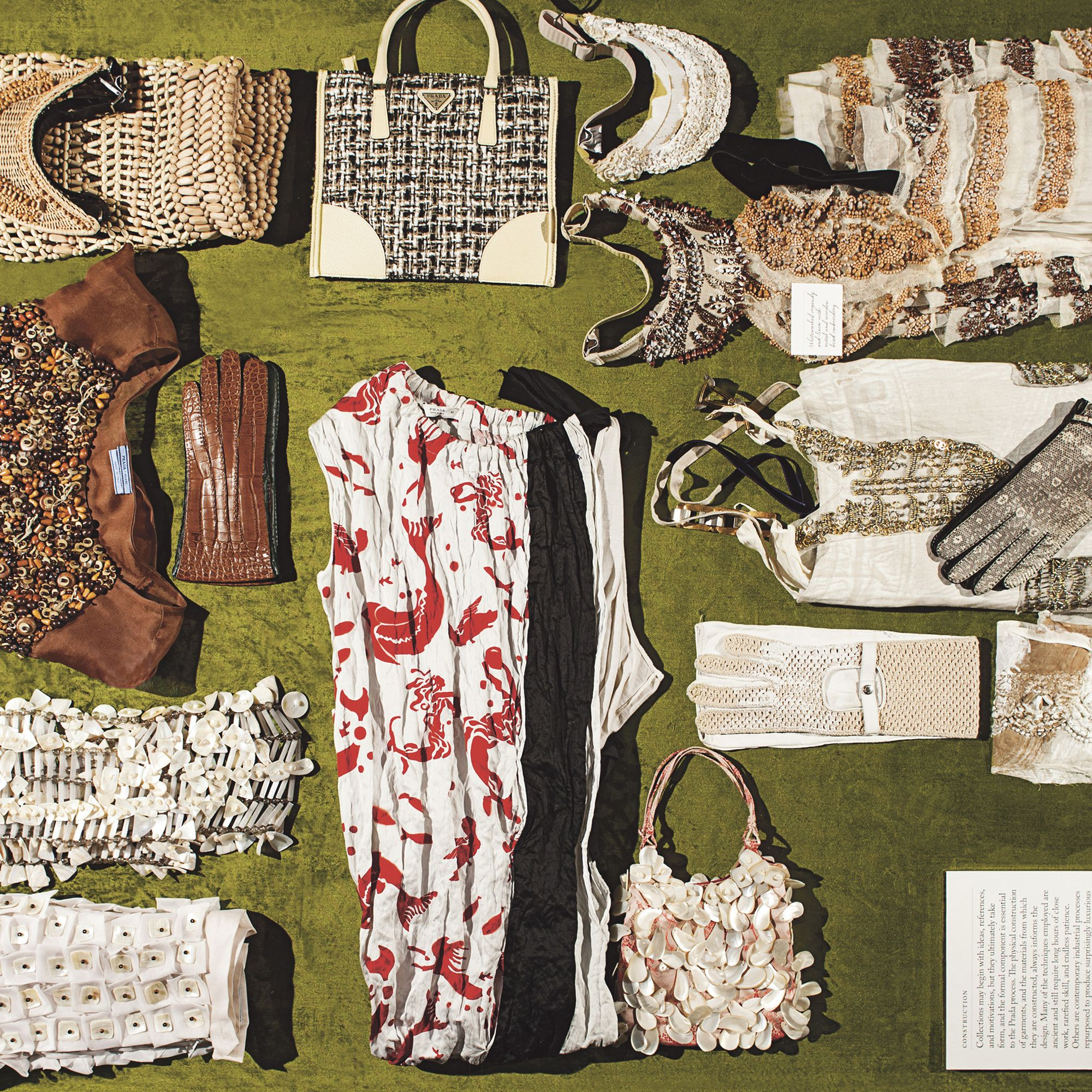 <p>An example of Miuccia Prada's technical work from the Construction section.</p><p> <!--EndFragment--></p>