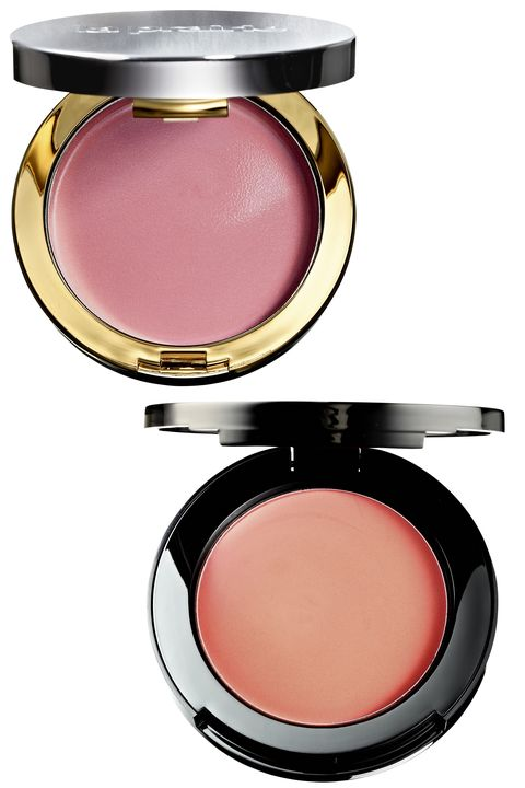 """I like to use a cream blush on the apples of my cheeks, as it gives a more dewy and natural finish. Bobbi Brown Pot Rouge for lips and cheeks in Powder Pink and Fresh Melon are my go-to shades. La Prairie also does a cream blush, called Cellular Radiance Cream Blush in Rose Glow.""  <strong>La Prairie</strong> Cream Blush in Rose Glow, $70, <a target=""_blank"" href=""http://www.laprairie.com/default/root/cellular-radiance-cream-blush/95790-00184-10.html?gclid=CjwKEAjw9bKpBRD-geiF8OHz4EcSJACO4O7TlKZiEnW48MMMAe8x9dnXYsDDL1Rai3AeQQE9akH10RoCUwTw_wcB"">laprairie.com</a>; <strong>Bobbi Brown </strong>Pot Rouge in Fresh Melon, $27, <a target=""_blank"" href=""http://www.sephora.com/pot-rouge-for-lips-cheeks-P270553?skuId=1482512&amp;om_mmc=ppc-GG&amp;mkwid=XtrPMqzI&amp;pcrid=49113163479&amp;pdv=c&amp;site=us_search&amp;country_switch=us&amp;lang=en&amp;gclid=CjwKEAjw9bKpBRD-geiF8OHz4EcSJACO4O7TGhtbwo63OzzJU-P6ZAAAJrNcVMs7X58yJM-iXdR5dxoCjb7w_wcB"">sephora.com</a>."