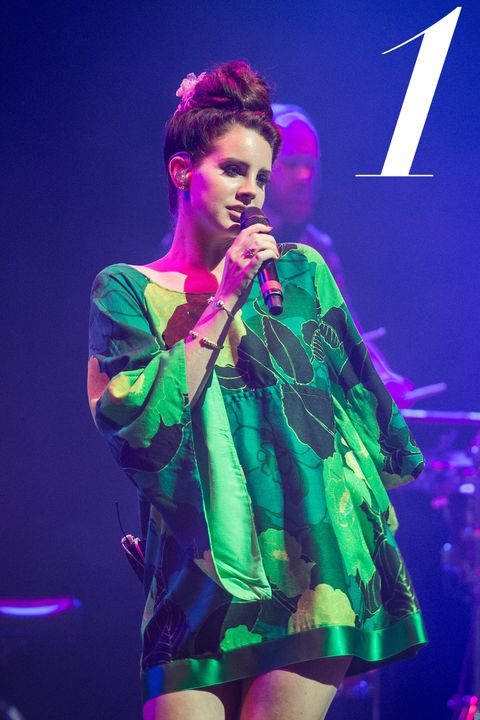 PARIS, FRANCE - JUNE 21: Lana Del Rey performs during La Fete De La Musique at L'Olympia at L'Olympia on June 21, 2014 in Paris, France. (Photo by David Wolff - Patrick/Redferns via Getty Images)