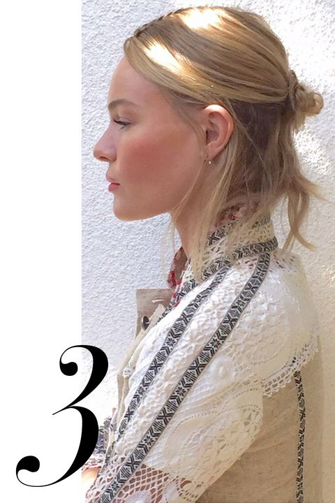 "The <a target=""_blank"" href=""http://www.harpersbazaar.com/beauty/hair/advice/g4796/celebrity-half-buns/"">messy half-bun</a> has saved me on plenty of bad hair days over the last few months, but I'm feeling a more intentional version for spring, like Kate Bosworth's Coachella style."