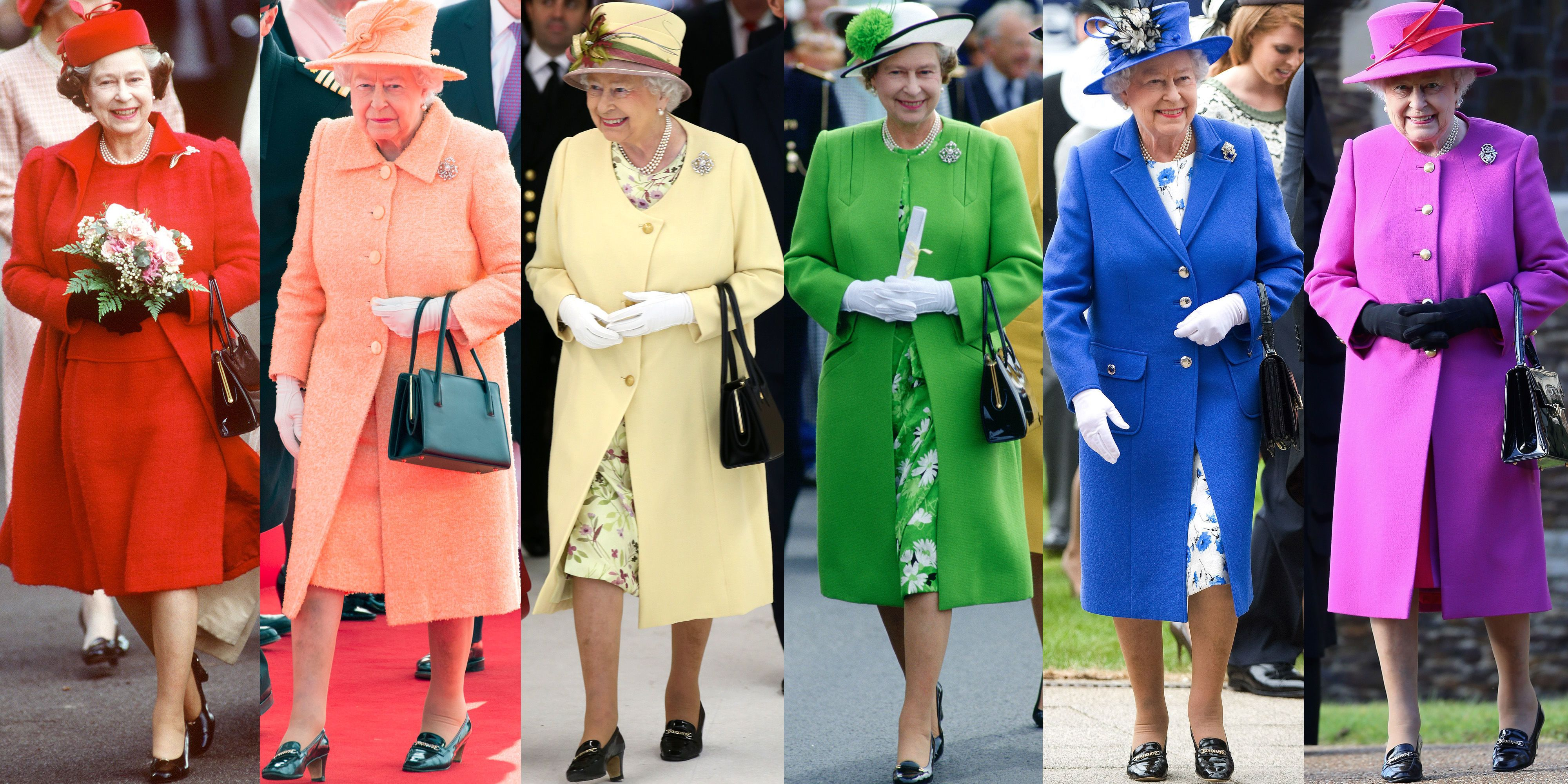 Queen Elizabeth's Regal Rainbow Style Through the Years