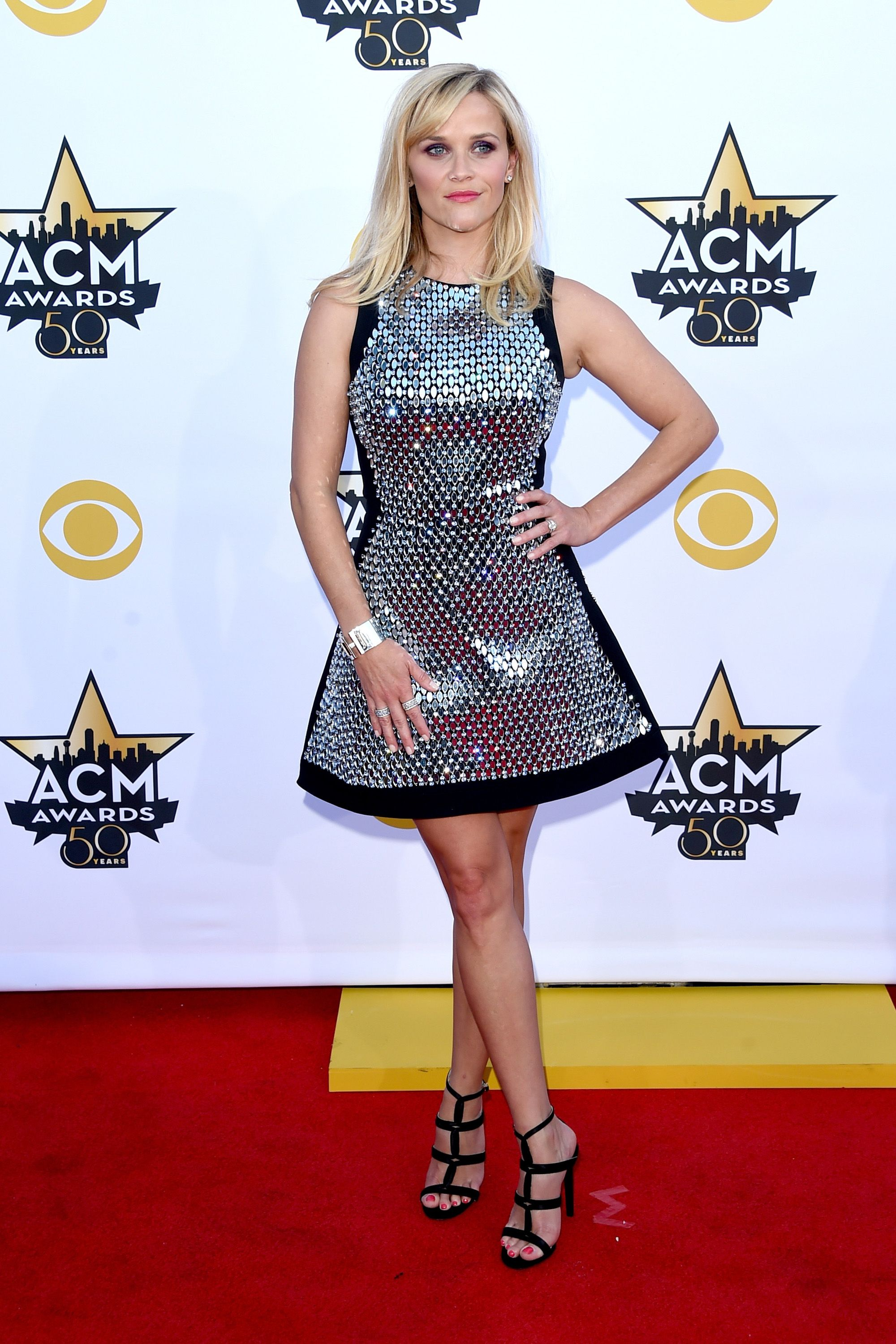 ARLINGTON, TX - APRIL 19:  Actress Reese Witherspoon attends the 50th Academy Of Country Music Awards at AT&T Stadium on April 19, 2015 in Arlington, Texas.  (Photo by Jason Merritt/Getty Images)