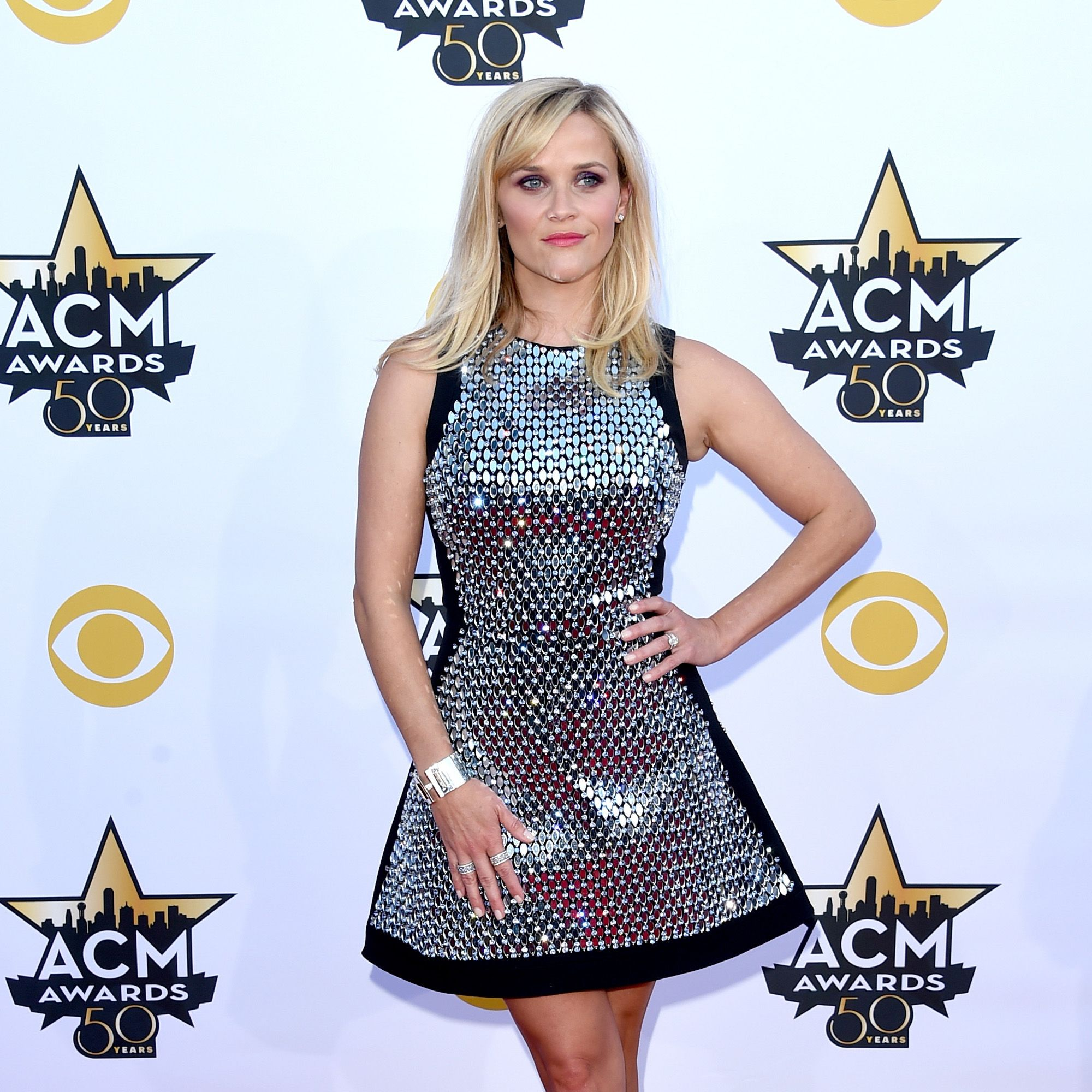 ARLINGTON, TX - APRIL 19:  Actress Reese Witherspoon attends the 50th Academy Of Country Music Awards at AT&amp&#x3B;T Stadium on April 19, 2015 in Arlington, Texas.  (Photo by Jason Merritt/Getty Images)