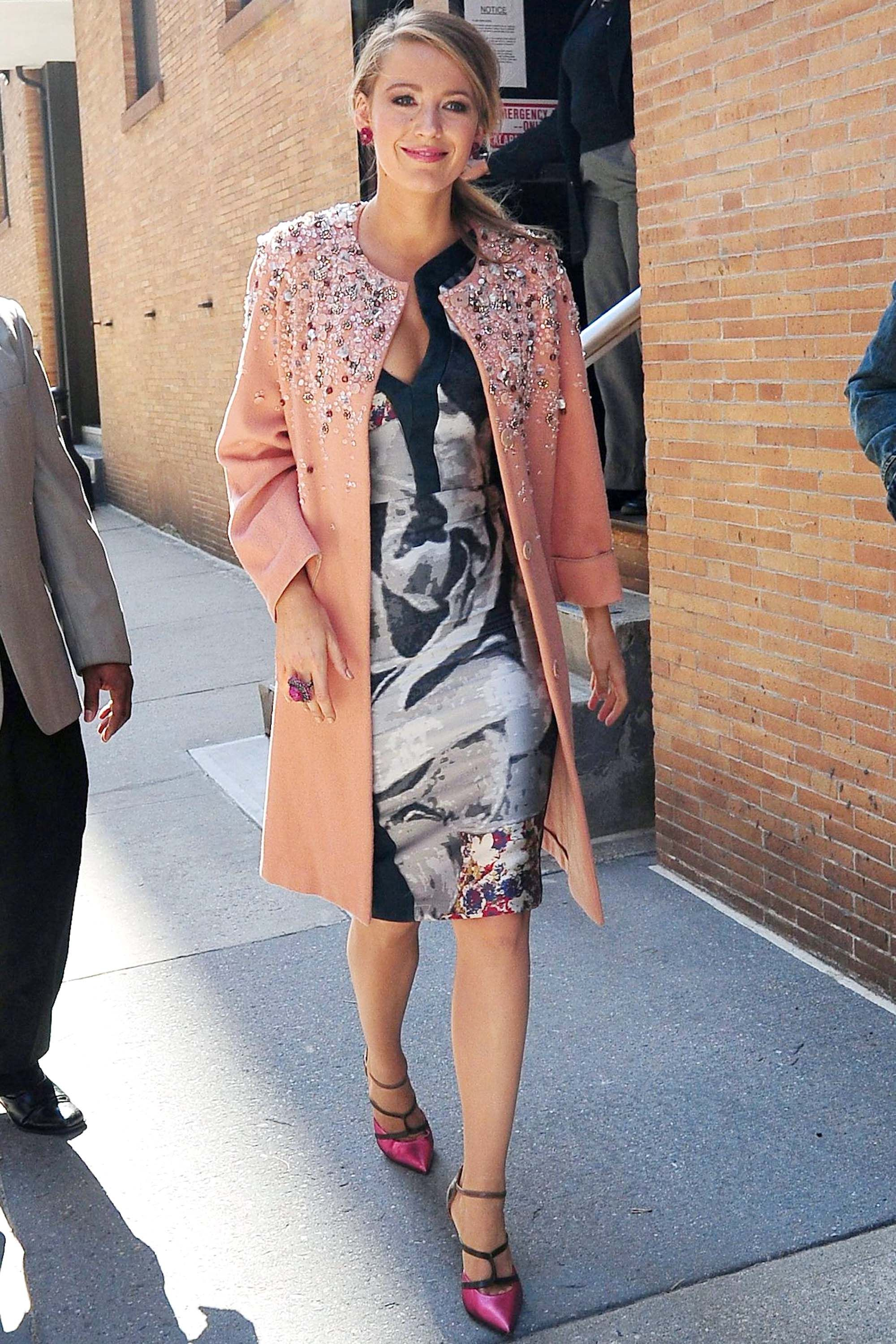 Mandatory Credit: Photo by REX Shutterstock (2696459m)Blake LivelyBlake Lively out and about, New York, America - Apr 2015