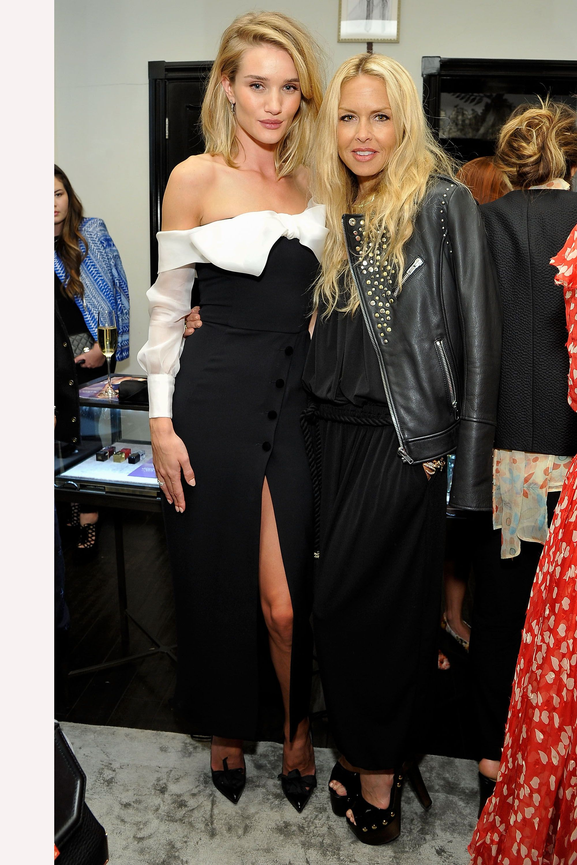LOS ANGELES, CA - APRIL 21:  (L-R) Model/actress Rosie Huntington-Whiteley and Rachel Zoe attend harper by Harper's BAZAAR at Violet Grey with Rosie Huntington-Whiteley on April 21, 2015 in Los Angeles, California.  (Photo by John Sciulli/Getty Images for Harper's BAZAAR)