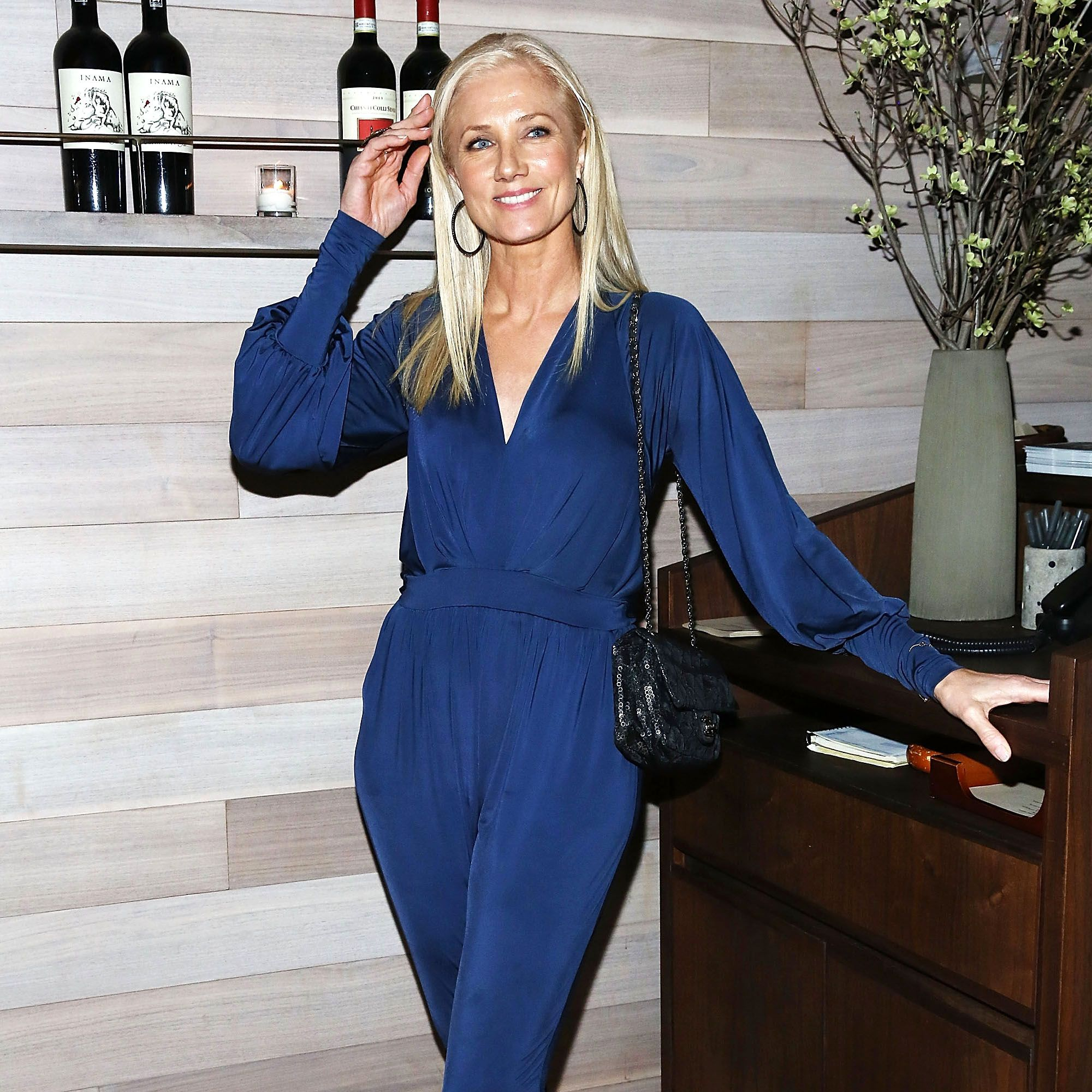 """NEW YORK, NY - APRIL 22:  Joely Richardson attends Lionsgate &amp&#x3B; Roadside attractions after party for the Tribeca Film Festival world premiere of """"Maggie"""" at Tutto II Giorno on April 22, 2015 in New York City.  (Photo by Astrid Stawiarz/Getty Images)"""