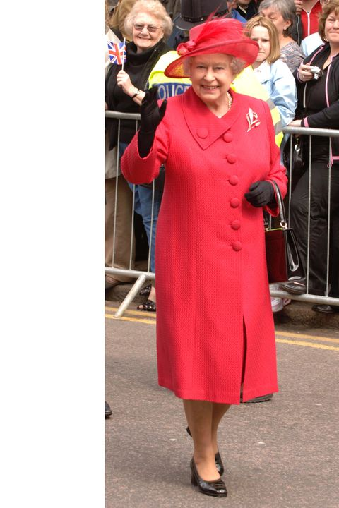 HRH Queen Elizabeth II at the The Queen's 80th Birthday Celebrations Walkabout at Outside Windsor Castle in Windsor.  (Photo by Chris Uncle/FilmMagic)