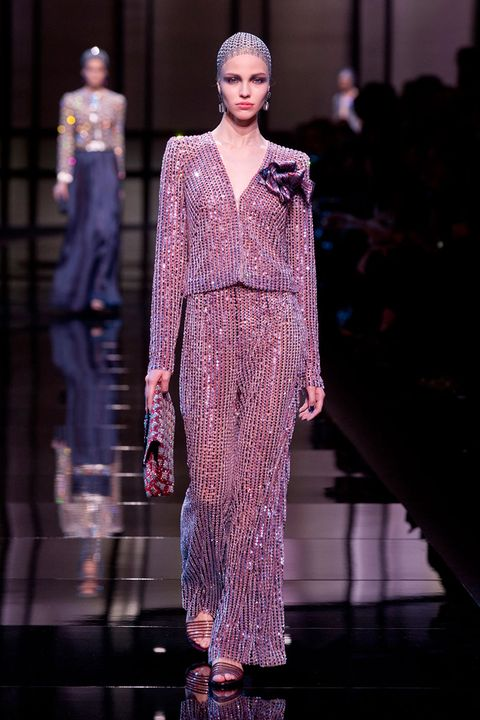 Armani has a history of creating luxe menswear-inspired pieces for women.