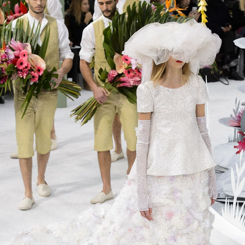 This Chanel wedding dress closed the Spring 2015 couture show and serves as the epitome of luxury as it represents the kind of gown one can only dream of.